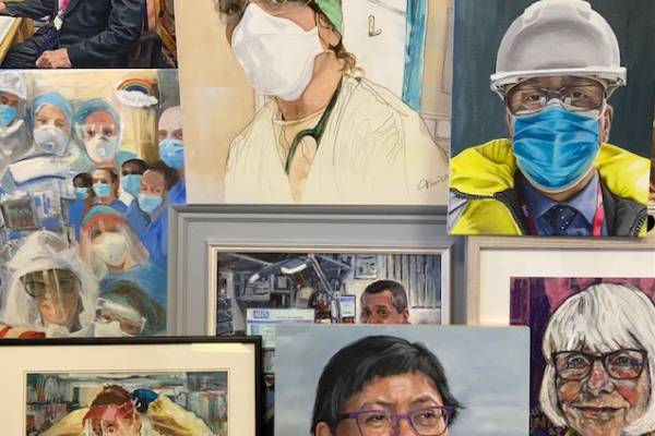 NHS portrait paintings for DCH